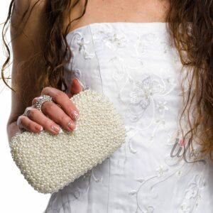 Булченска чанта с перли