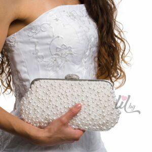 Булчинска бяла чанта