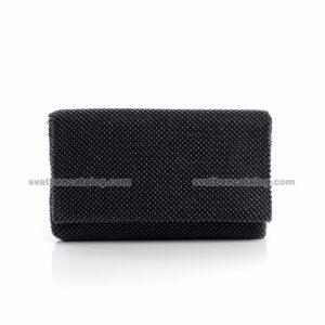 Малка мека черна чанта