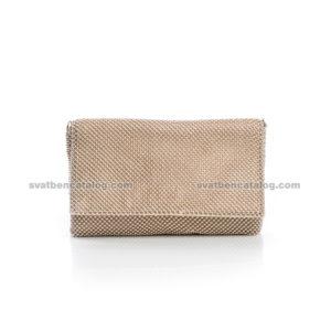 Малка мека златиста чанта