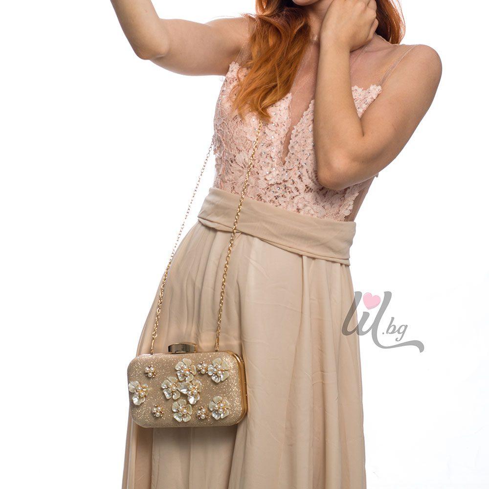 luxury gold clutch bag