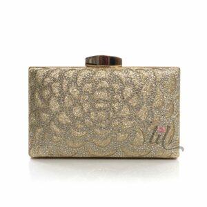 Бална златна чанта