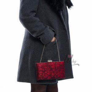 Бална червена чанта