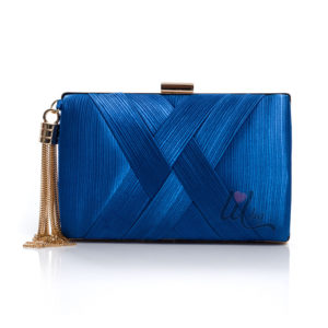 Синя чанта за бал