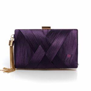 Лилава бална чанта