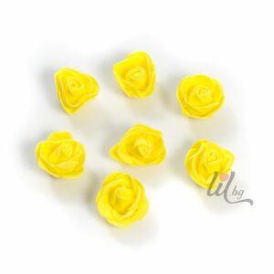 Жълти силиконови розички