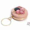 Кръгла розова чанта