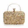 Златиста стилна чанта