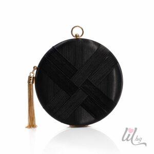 Кръгла черна чанта