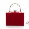 Червена чанта тип клъч