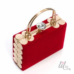 Червена вечерна чанта