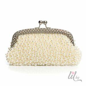 Булчинска чантичка с перлички