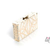 Чанта бяло и златно