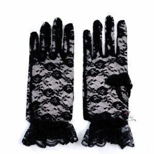 Черни дантелени ръкавици