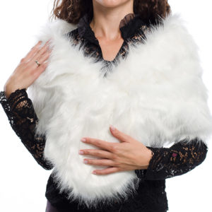 Булчински шал с пух