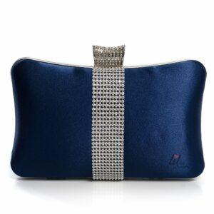 Синя чанта клъч