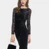Черна официална рокля