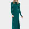 Дълга зелена рокля
