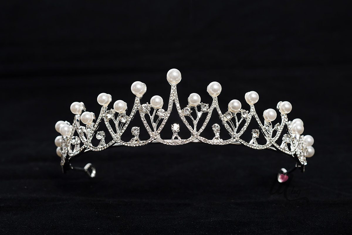 Официални тиари за коса с перли и кристали
